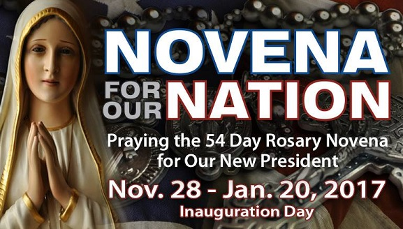 54 Day Rosary Novena for Our Nation and Our New President